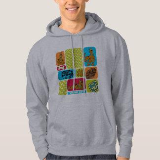 Scooby-Doo Mystery Pattern Hooded Sweatshirts
