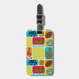 Scooby-Doo Mystery Pattern Luggage Tag