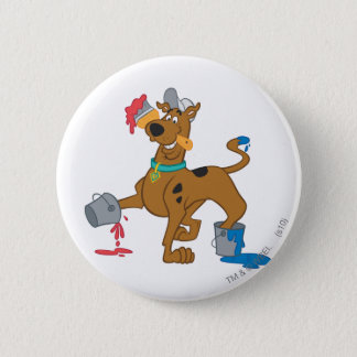 Scooby Doo Paint3 2 Inch Round Button