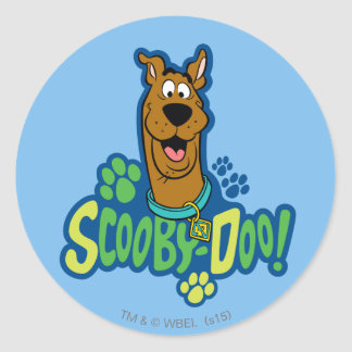 Scooby-Doo Paw Print Character Badge Classic Round Sticker