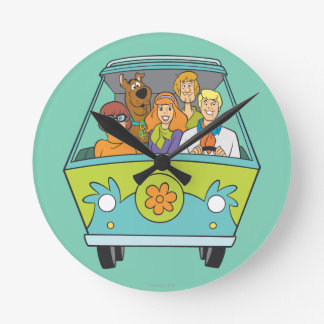 Scooby Doo Pose 71 Round Clock