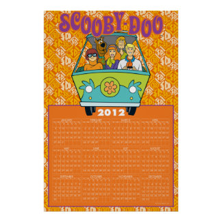 Scooby-Doo The Mystery Machine 2012 Calendar Poster