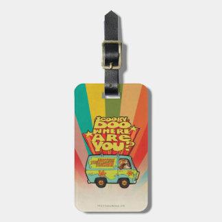 "Scooby-Doo | ""Where Are You?"" Retro Cartoon Van Luggage Tag"