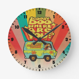 "Scooby-Doo | ""Where Are You?"" Retro Cartoon Van Round Clock"