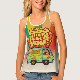"Scooby-Doo | ""Where Are You?"" Retro Cartoon Van Tank Top"