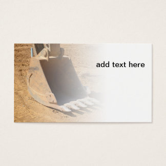 scoop for a backhoe business card