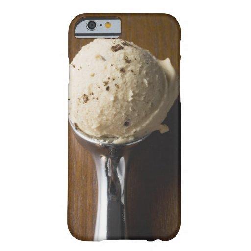 Scoop of ice cream in ice cream scoop (overhead iPhone 6 case