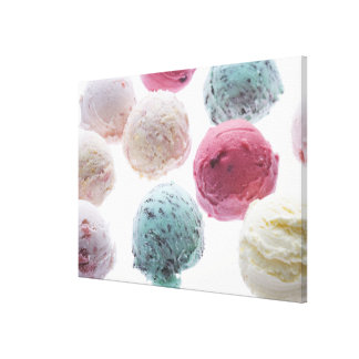 Scoops of ice creams canvas print
