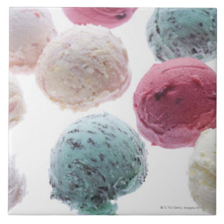 Scoops of ice creams tile