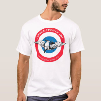 Scoot Free or Die (MOD Style) Design T-Shirt