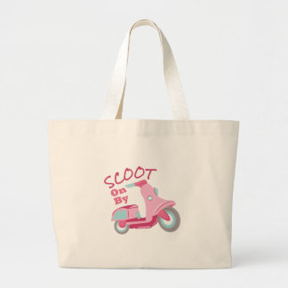 Scoot On By Large Tote Bag