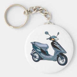 Scooter Basic Round Button Keychain