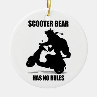Scooter Bear Ceramic Ornament