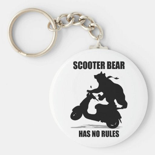 Scooter Bear Keychain