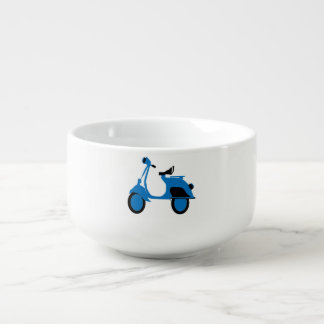 Scooter Blue Soup Mug