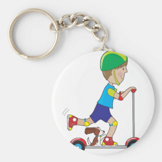 Scooter Boy Keychains