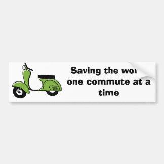 scooter commuter bumper sticker