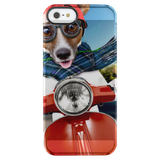 Scooter dog ,jack russell clear iPhone SE/5/5s case