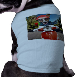 Scooter dog ,jack russell dog t-shirt