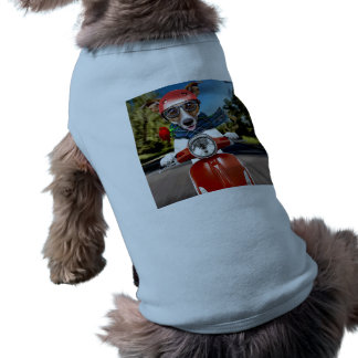 Scooter dog ,jack russell doggie tee