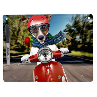 Scooter dog ,jack russell dry erase board with keychain holder