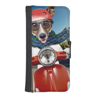 Scooter dog ,jack russell iPhone SE/5/5s wallet case