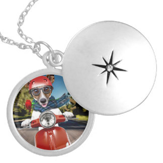 Scooter dog ,jack russell locket necklace