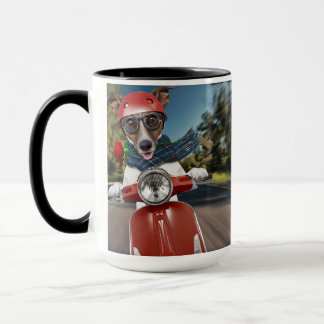 Scooter dog ,jack russell mug