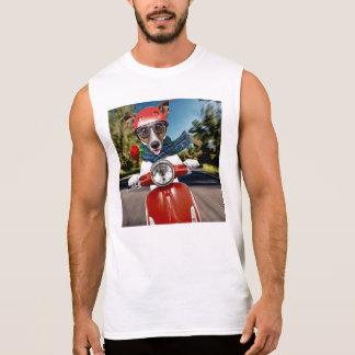 Scooter dog ,jack russell sleeveless shirt