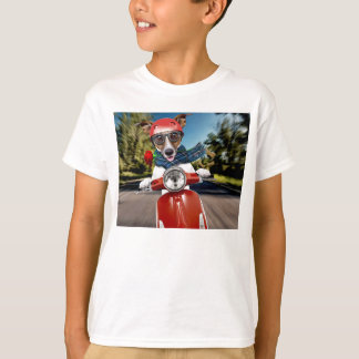 Scooter dog ,jack russell T-Shirt