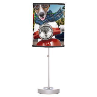 Scooter dog ,jack russell table lamp