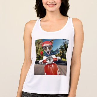 Scooter dog ,jack russell tank top
