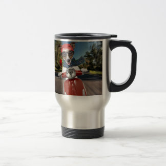 Scooter dog ,jack russell travel mug