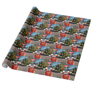 Scooter dog ,jack russell wrapping paper