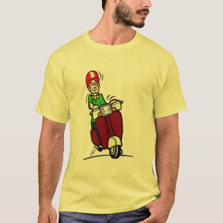 Scooter Dude, comical rider, T-Shirt