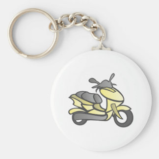 Scooter engine more scooter basic round button keychain