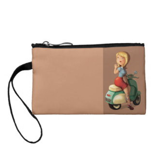 Scooter Girl Coin Purse