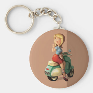Scooter Girl Key Chain