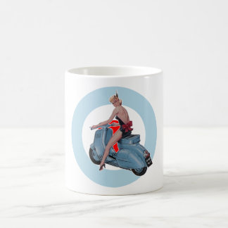 Scooter Girl & Mod Roundel mug