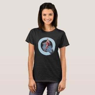 Scooter Girl Mod Target ladies black T-Shirt