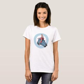 Scooter Girl Mod Target ladies T-Shirt