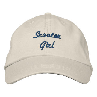 Scooter Girl Personalized Embroidered Hat