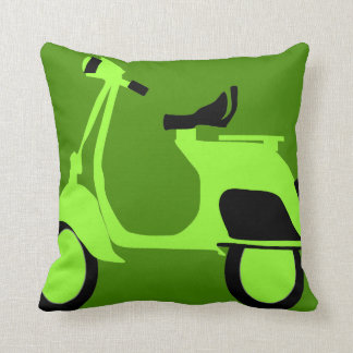 Scooter Green Throw Pillow