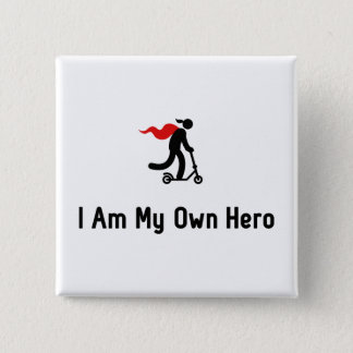 Scooter Hero 2 Inch Square Button