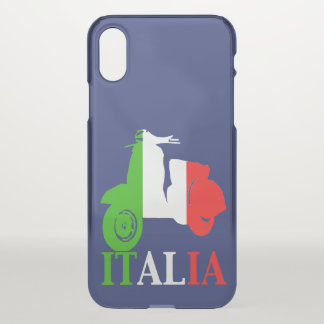 Scooter in Italian Flag Colors iPhone X Case