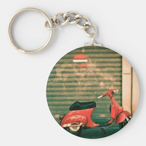 Scooter in Italy Key Chains