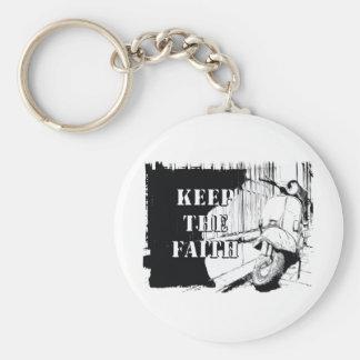Scooter Keep the Faith Basic Round Button Keychain