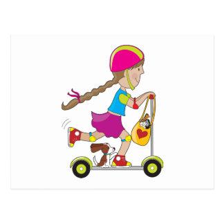 Scooter Kid Postcard