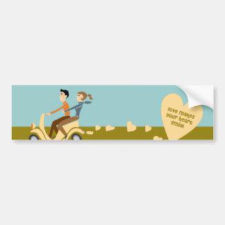 scooter love Bumper Sticker