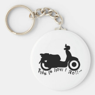 Scooter or E-Bike - This is how I Roll! Basic Round Button Keychain